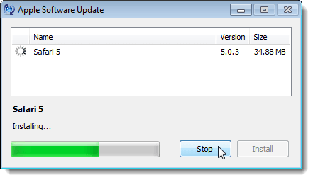 Installing the update