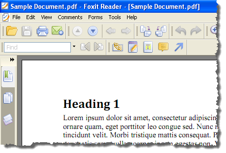 The PDF file open in a PDF reader