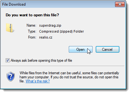 File Download dialog box