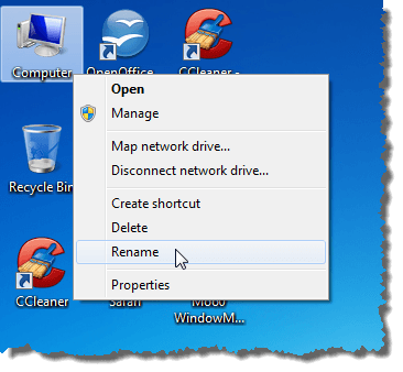 Remove the Text Labels from Desktop Icons in Windows 7/8/10