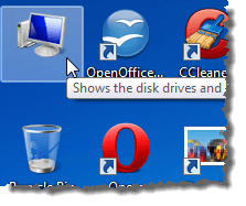 Desktop icon with no text
