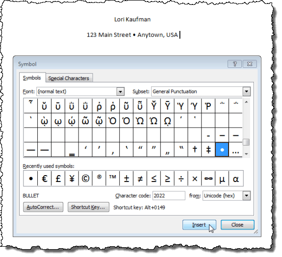 Insert A Bullet In The Middle Of A Sentence In Word Cbt Bazar