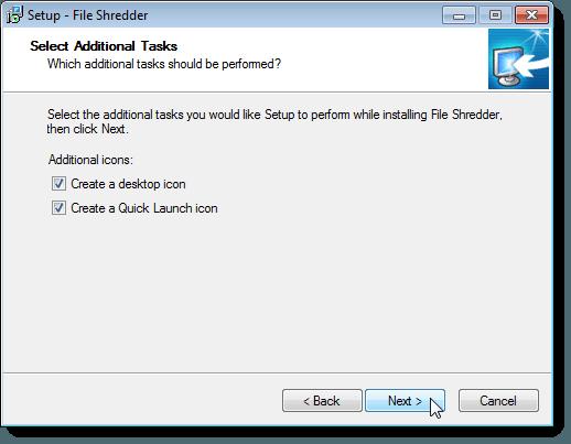 Select Additional Tasks
