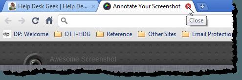 Closing Annotate Your Screenshot tab