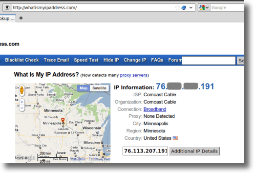 Check your IP Address