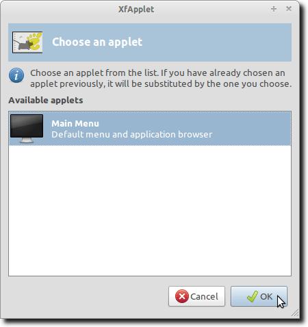 Choose a GNOME Applet