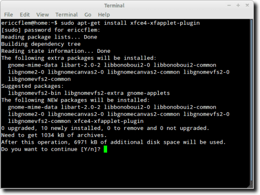 Installing XFApplet