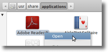 Launch From Application Folder