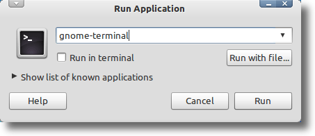 Launch With Run Dialog
