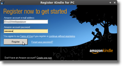 Register Kindle for PC