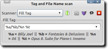 Tag and File Name Scan