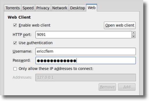 Transmission Web Interface Options