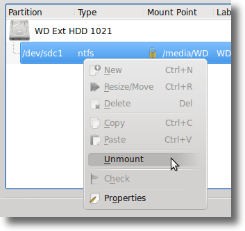 Editing Partitions with KDE Partition Manager