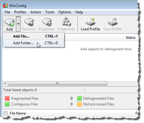 Selecting Add Folder