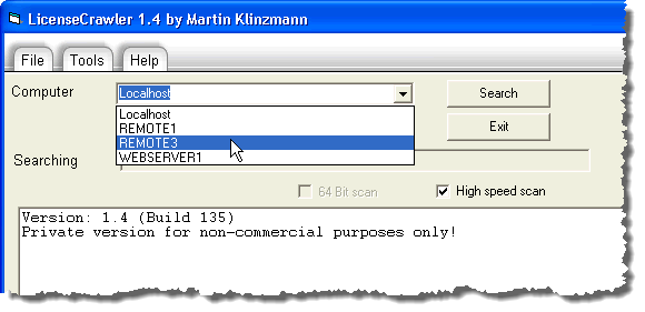 Selecting a computer in the network