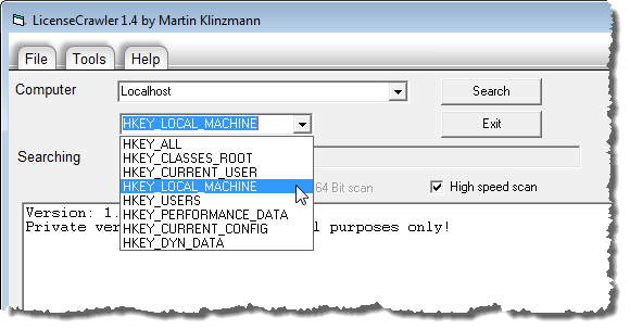 Recover License Keys for Installed Software