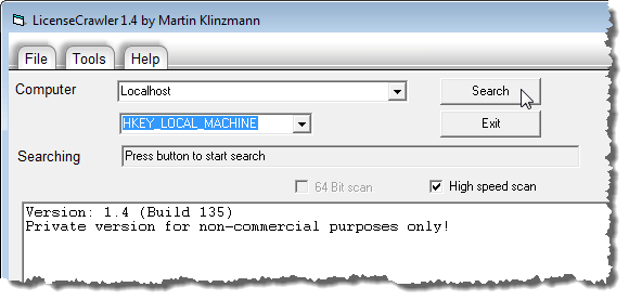 Clicking Search