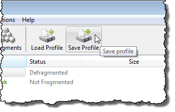 Clicking Save Profile