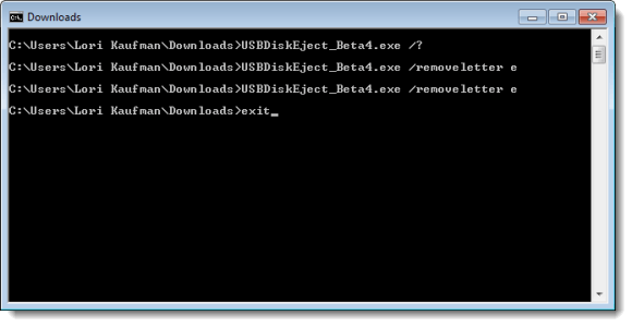 Closing the command prompt window