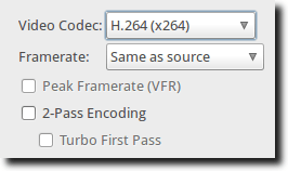 Codec and Framerate