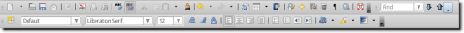 Default Toolbars
