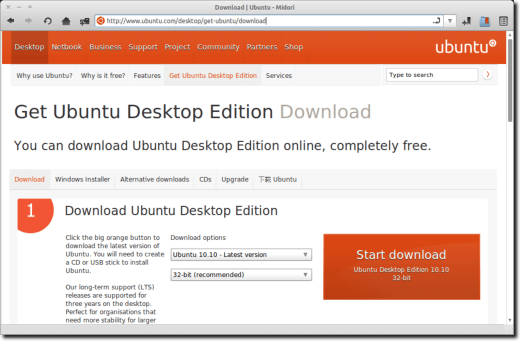 Ubuntu Download Page