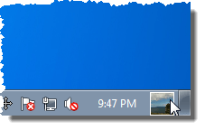 The user picture tile on the Taskbar in Windows 7