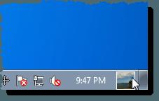 The user picture tile on the Taskbar in Windows 7