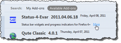 Getting more information about Status-4-Evar add-on