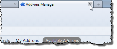 Closing Add-ons Manager