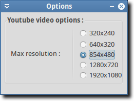 Gmediafinder Options