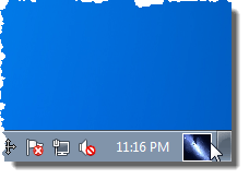 Taskbar UserTile showing a custom picture