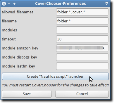 CoverChooser Preferences