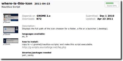 Script Page on GTK Apps