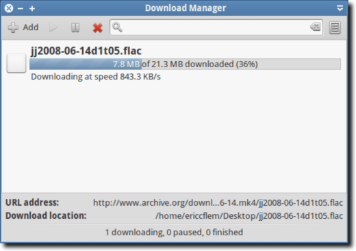Using External Download Manager