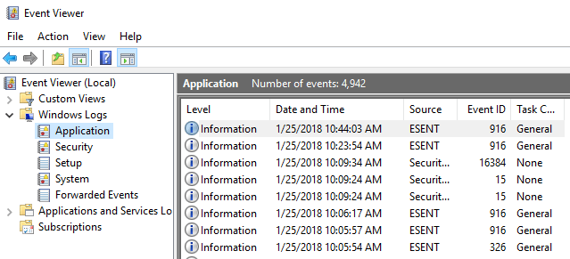 Export, Clear, and Increase Size for Event Logs in Windows