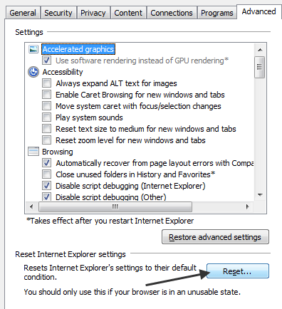 Fix Internet Explorer 9 Issues