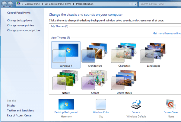Is there a Classic View in Windows 7?