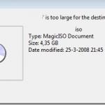 "Fix ""File is too large for destination file system"" Error"