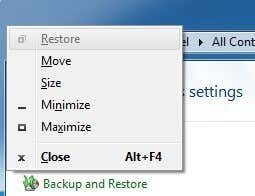 Move a Window with the Keyboard in Windows 7/8/10