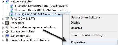 Fix Unidentified Network and No Network Access in Windows 7/8/10