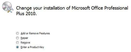 microsoft office 2010 professional plus cannot verify the license for this product