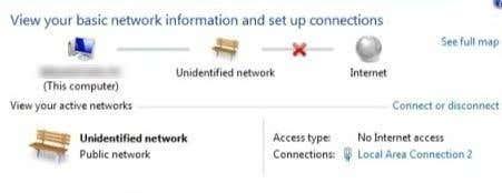 unidentified network