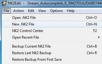new nk2 file