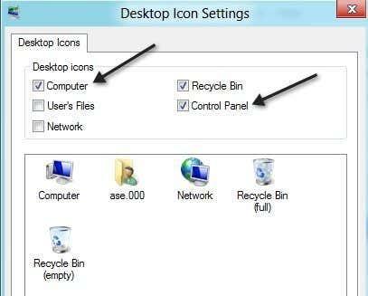 control panel desktop