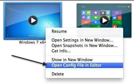 edit vmx file