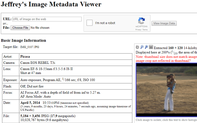 View Photo EXIF Metadata on iPhone, Android, Mac, and Windows