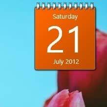 calendar gadget