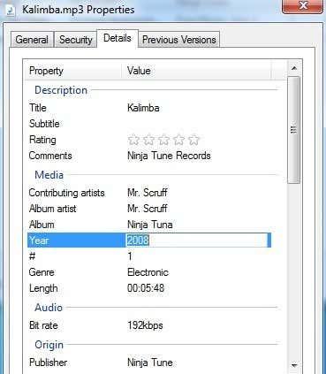 details tab mp3