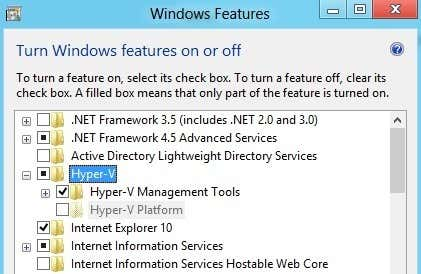 Enable Windows 10 Hyper-V